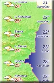 31 мая 2018 года, температура морской воды в Болгарии