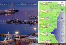 31 мая 2018 года температура морской воды в Болгарии