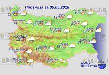 5 мая 2018 года, погода в Болгарии