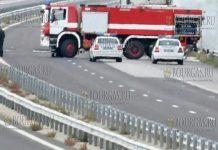 Автобус с украинской регистрацией загорелся на АМ Хемус в Болгарии