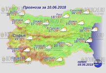 10 июня 2018 года, погода в Болгарии