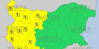 13 июня 2018 года - дождливый и грозовой Желтый код в Болгарии
