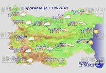 13 июня 2018 года, погода в Болгарии