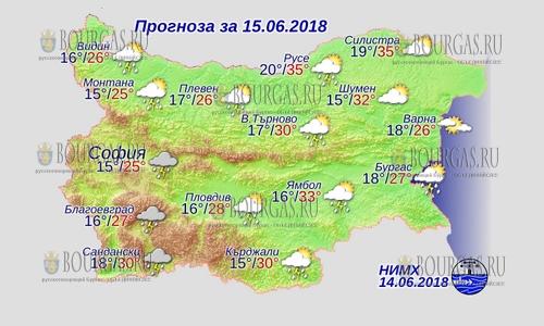 15 июня 2018 года, погода в Болгарии
