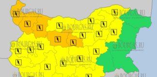 16 июня 2018 года - дождливый и грозовой Желтый код в Болгарии