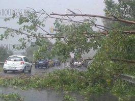 17 июня 2018 года, буря в Бургасской области