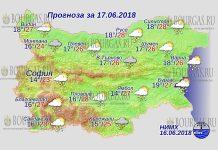 17 июня 2018 года, погода в Болгарии