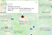 17 июня 2018 года, землетрясение в Болгарии