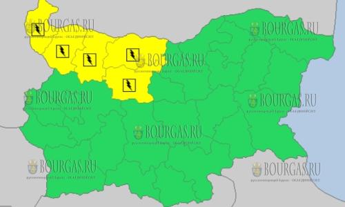 22 июня 2018 года - дождливый и грозовой Желтый код в Болгарии