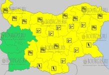 23 июня 2018 года - дождливый и грозовой Желтый код в Болгарии