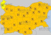 28 июня 2018 года в Болгарии - дождливый и грозовой Оранжевый и Желтый коды опасности