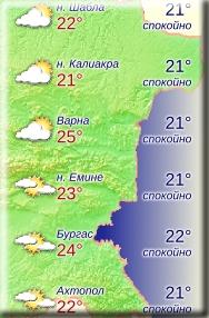 3 июня 2018 года, температура морской воды в Болгарии