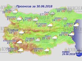 30 июня 2018 года, погода в Болгарии
