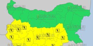 6 июня 2018 года - дождливый и грозовой Желтый код в Болгарии