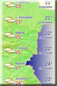 9 июня 2018 года, температура воды в Болгарии