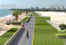 Бургас аэропорт Сарафово пешеходная и вело дорожки
