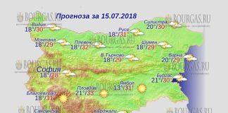 15 июля 2018 года, погода в Болгарии