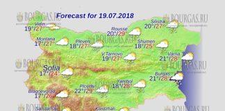 19 июля 2018 года, погода в Болгарии