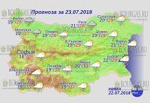 23 июля 2018 года, погода в Болгарии