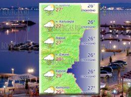 23 июля 2018 года в Болгарии - температура морской воды