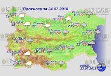 24 июля 2018 года, погода в Болгарии