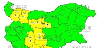 27 июля 2018 года в Болгарии - дождевой и грозовой Желтый код опасности
