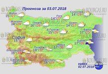 3 июля 2018 года, погода в Болгарии