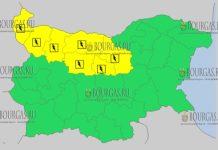 30 июля 2018 года в Болгарии - дождевой и грозовой Желтый код опасности