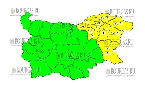 5 июля 2018 года в Болгарии - дождевой и грозовой Желтый код опасности