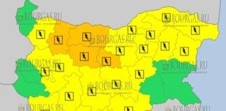8 июля 2018 года в Болгарии - дождевой и грозовой Оранжевый и Желтый коды опасности