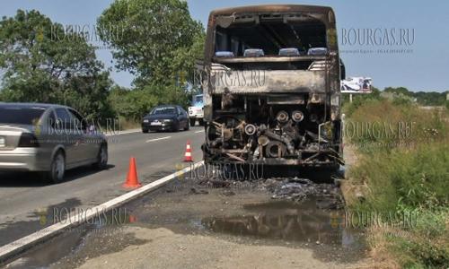 в болгарском Причерноморье загорелся автобус с израильскими туристами