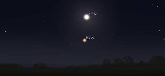 В ночь на 1-е августа 2018 наблюдаем Марс с территории Болгарии
