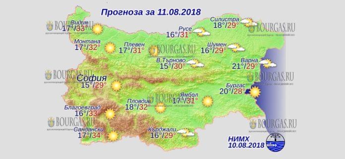 11 августа 2018 года, погода в Болгарии