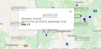 11-го августа землетрясение в Петриче