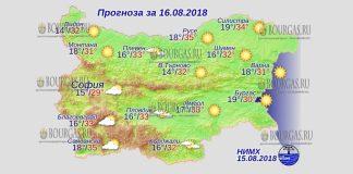 16 августа 2018 года, погода в Болгарии