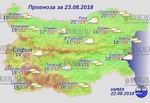 23 августа 2018 года, погода в Болгарии