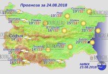 24 августа 2018 года, погода в Болгарии