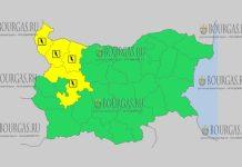 26 августа 2018 года, погода в Болгарии Желтый код опасности