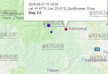 27 августа 2018 года, землетрясение в Болгарии