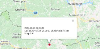 3-го августа землетрясение в Златограде