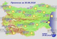 30 августа 2018 года, погода в Болгарии