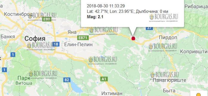 30 августа 2018 года, землетрясение в Болгарии