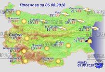 6 августа 2018 года, погода в Болгарии