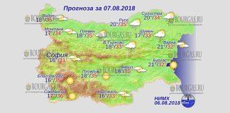 7 августа 2018 года, погода в Болгарии