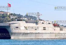 Американский десантный катамаран USNS Carson City пришвартовался в порту Варны