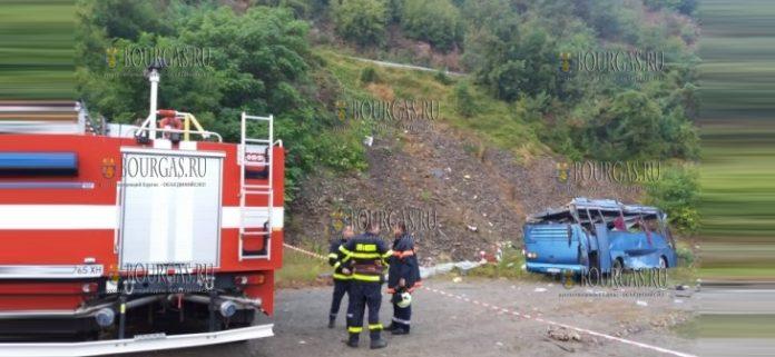 в ДТП в Болгарии, в районе Искырского ущелья погибли 16 человек и 26 получили ранения