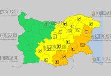 1 октября 2018 года, погода в Болгарии ветреный Желтый код опасности