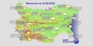 10 сентября 2018 года, погода в Болгарии