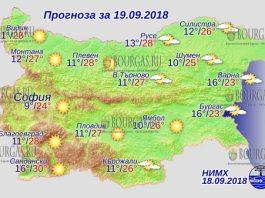 19 сентября 2018 года, погода в Болгарии