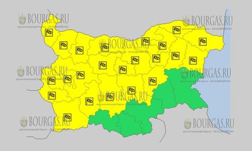 24 сентября 2018 года, погода в Болгарии ветреный Желтый код опасности